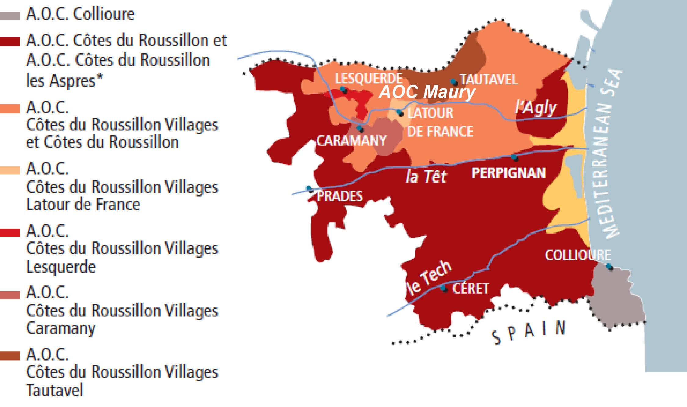 AOC Roussillion Gebiete
